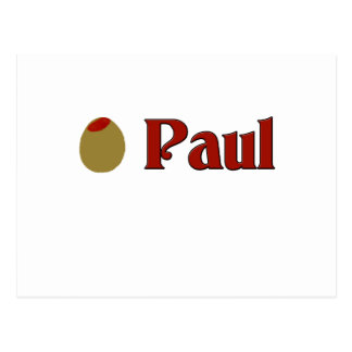 Olive (I Love) Paul Postcard