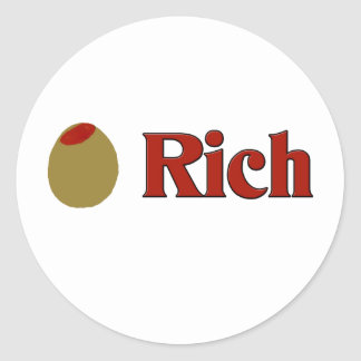 Olive (I Love) Rich Stickers