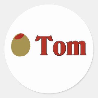 Olive (I Love) Tom Round Sticker