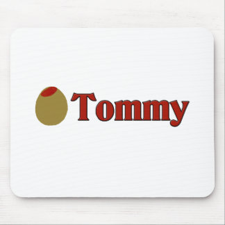 Olive I Love Tommy Mousepads