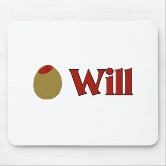 Olive I Love Will Mousepad