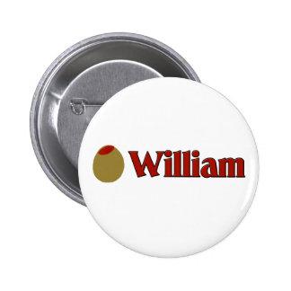 Olive (I Love) William Pinback Button