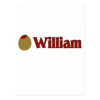 Olive (I Love) William Postcard