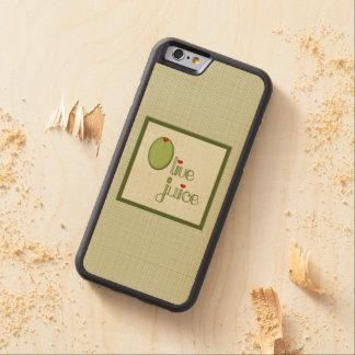 Olive Juice Carved Maple iPhone 6 Bumper Case