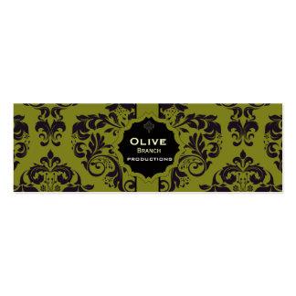 Olive Juice Pack Of Skinny Business Cards