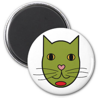 Olive Kitty Magnet
