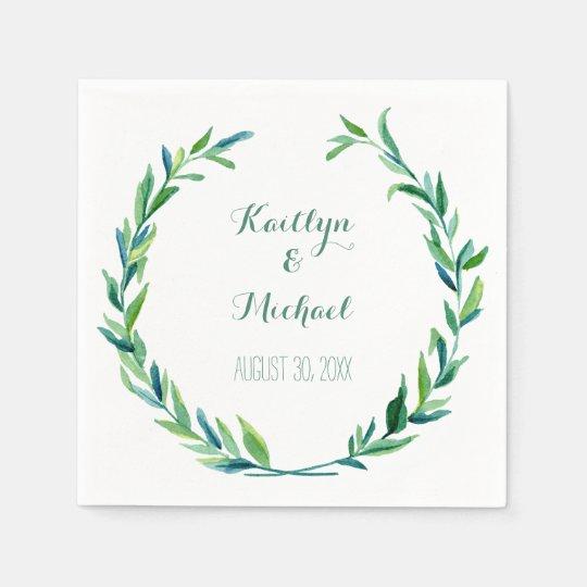 Olive Leaf Laurel Wreath Simple Modern Reception Disposable