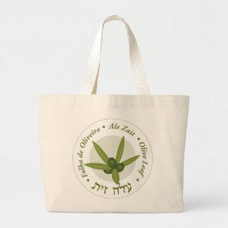 Olive leaf Seal folha de oliveira ale zait Large Tote Bag