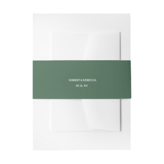 Olive Leaves Invitation Belly Band