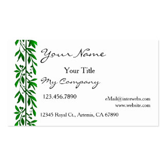 Olive Leaves Simple Elegant Business Card