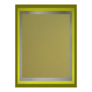 Olive-Lime-Silver Multipurpose Card 17 Cm X 22 Cm Invitation Card