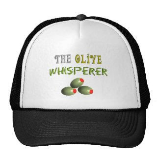 "Olive Lovers Gifts ""The Olive Whisperer"" Cap"