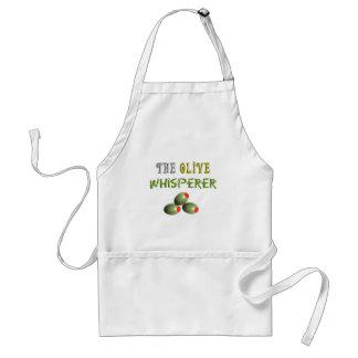 "Olive Lovers Gifts ""The Olive Whisperer"" Standard Apron"
