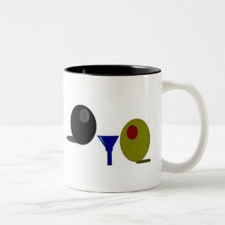 """Olive Mug.  """"Olive You!"""" Two-Tone Mug"""