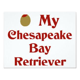 Olive My Chesapeake Bay Retriever 4.25x5.5 Paper Invitation Card
