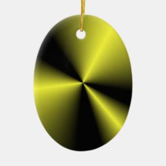 Olive 'N Black Contrasting Points 'N Cones Ceramic Oval Decoration