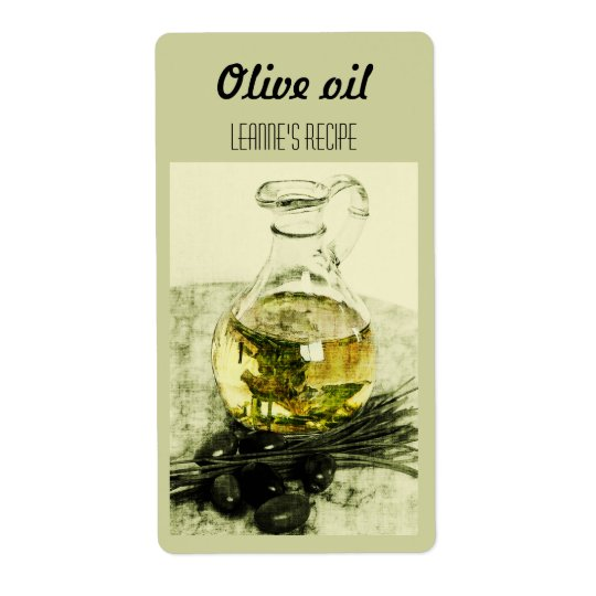 Olive oil and chives label shipping label