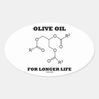Olive Oil For Longer Life (Molecule) Oval Sticker