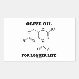 Olive Oil For Longer Life (Molecule) Rectangular Sticker