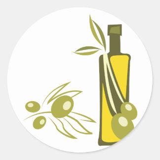Olive Oil Round Sticker