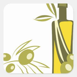 Olive Oil Square Sticker