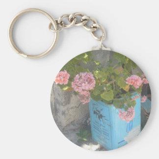 Olive Oil Tin in Bloom Key Ring