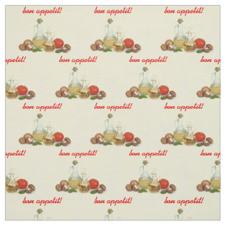 Olive oil, tomatoes, bell peppers fabric