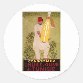 Olive Oil Vintage Food  Ad  Art Classic Round Sticker
