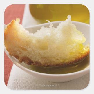 Olive oil with white bread square sticker