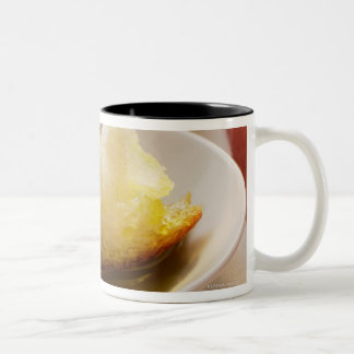 Olive oil with white bread Two-Tone coffee mug