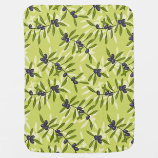 Olive Pattern Swaddle Blankets