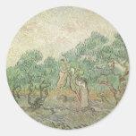 Olive Picking by van Gogh, Vintage Impressionism Stickers