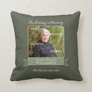 Olive Pinstripe Memorial American MoJo Pillow