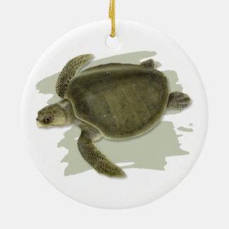 Olive Ridley Sea Turtle Ceramic Ornament