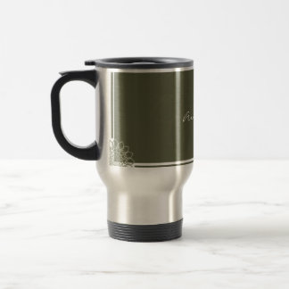 Olive Rosettes Travel Mug