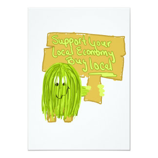Olive support your local economy custom invitations