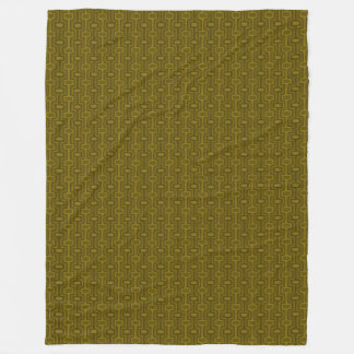 Olive This Fleece, Mix & Match - Retro Olive Fleece Blanket