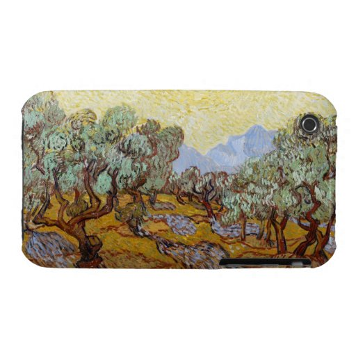 Olive Trees, 1889 (oil on canvas) iPhone 3 Case-Mate Cases
