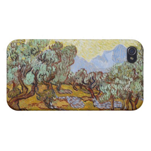 Olive Trees, 1889 (oil on canvas) iPhone 4/4S Case