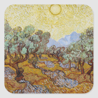 Olive Trees, 1889 (oil on canvas) Square Sticker