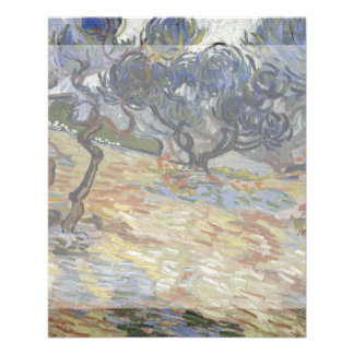 Olive Trees by Vincent Van Gogh 11.5 Cm X 14 Cm Flyer