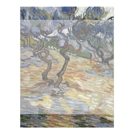 Olive Trees by Vincent Van Gogh Flyer