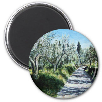 OLIVE TREES IN TUSCANY REFRIGERATOR MAGNET