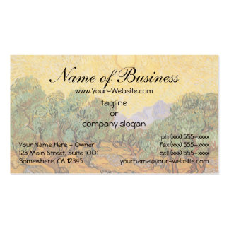 Olive Trees w Yellow Sky, Sun by Vincent van Gogh Pack Of Standard Business Cards