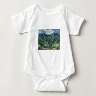 Olive Trees with the Alpilles in the Background Baby Bodysuit