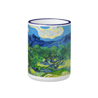 Olive Trees with the Alpilles in the Background Coffee Mug