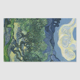 Olive Trees with the Alpilles in the Background Rectangular Sticker