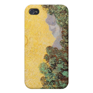 Olive Trees with Yellow Sky and Sun iPhone4 Case iPhone 4 Cases