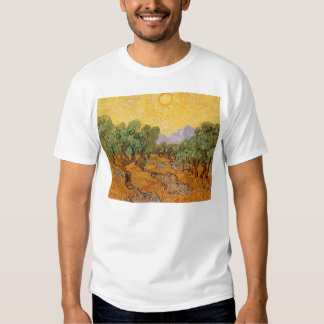 Olive Trees, Yellow Sky and Sun, Vincent van Gogh T-shirt