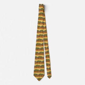 Olive Trees, Yellow Sky and Sun, Vincent van Gogh Tie
